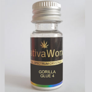 GORILLA GLUE 4 SativaWorx Full Spectrum CBD crystals