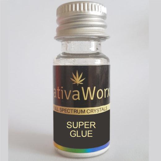SUPER GLUE SativaWorx Full Spectrum CBD crystals
