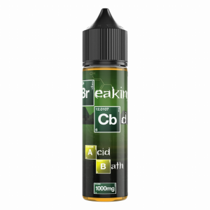 ACID BATH - BREAKING CBD SERIES Acid Bath elevates the classic Lemon & Lime combo to a new high. Powerful and fruity, decadent and lavish. Available in 50ml -120ml bottles 1000mg - 3000mg  CBD 50VG/50PG
