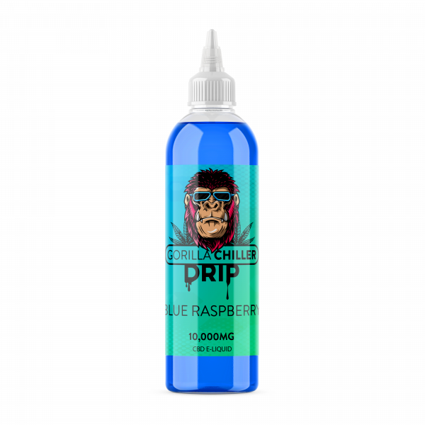 BLUE RASPBERRY GORILLA CHILLER DRIP 10,000mg CBD  250ml bottle 10,000mg CBD  70PG/30VG