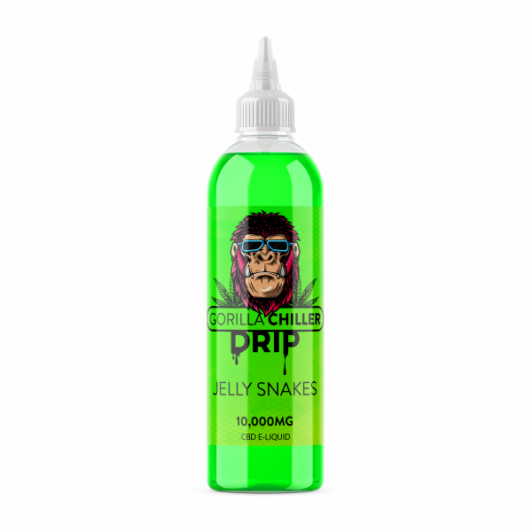 JELLY SNAKES GORILLA CHILLER DRIP 10,000mg CBD  250ml bottle 10,000mg CBD  70PG/30VG
