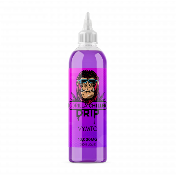 VYMPTO GORILLA CHILLER DRIP 10,000mg CBD Sativaworx Vymto CBD drip is a berry blitz explosion of flavour, enjoy your fix with this premium grade cbd drip 250ml bottle 10,000mg CBD 70PG/30VG